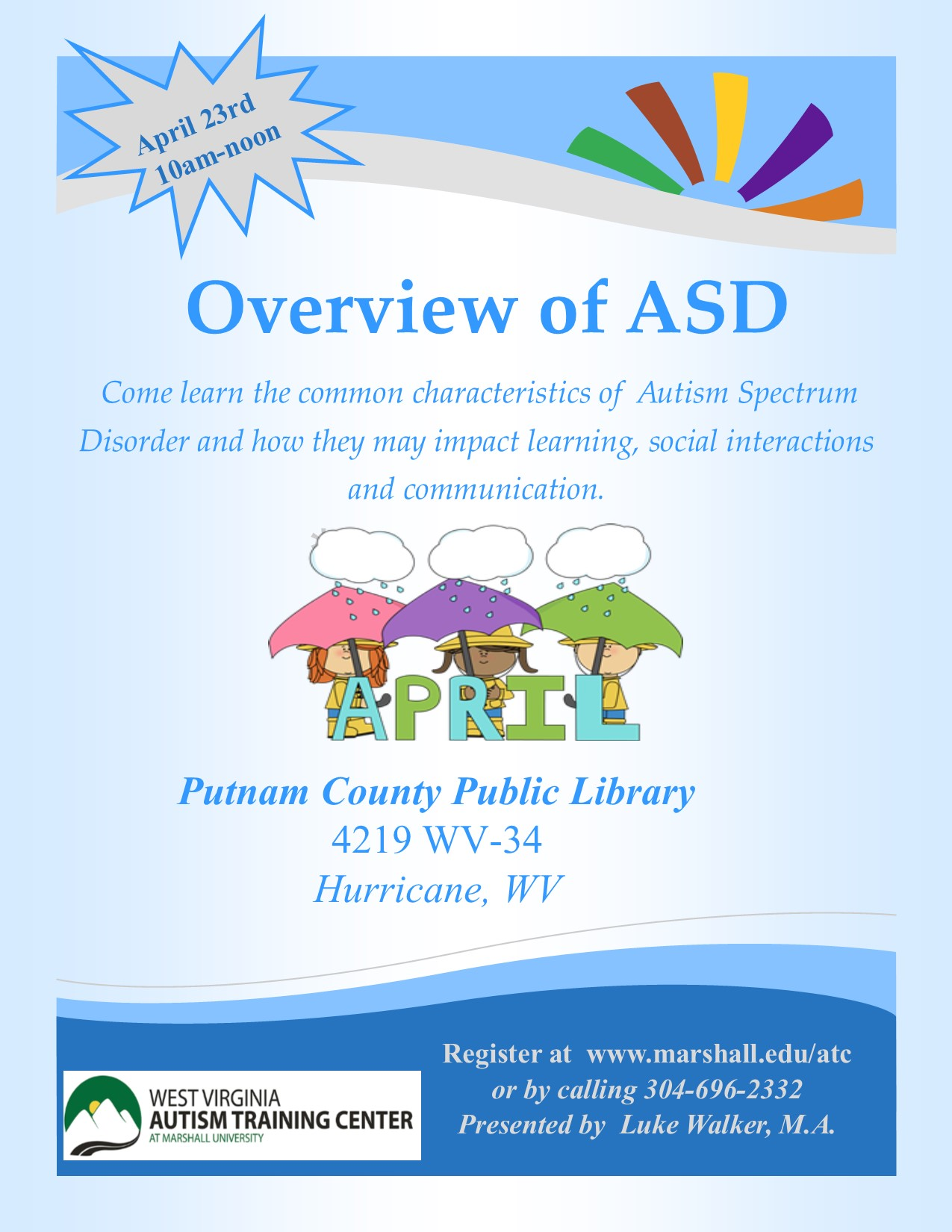 Putnam County Public Library Overview of ASD – Autism