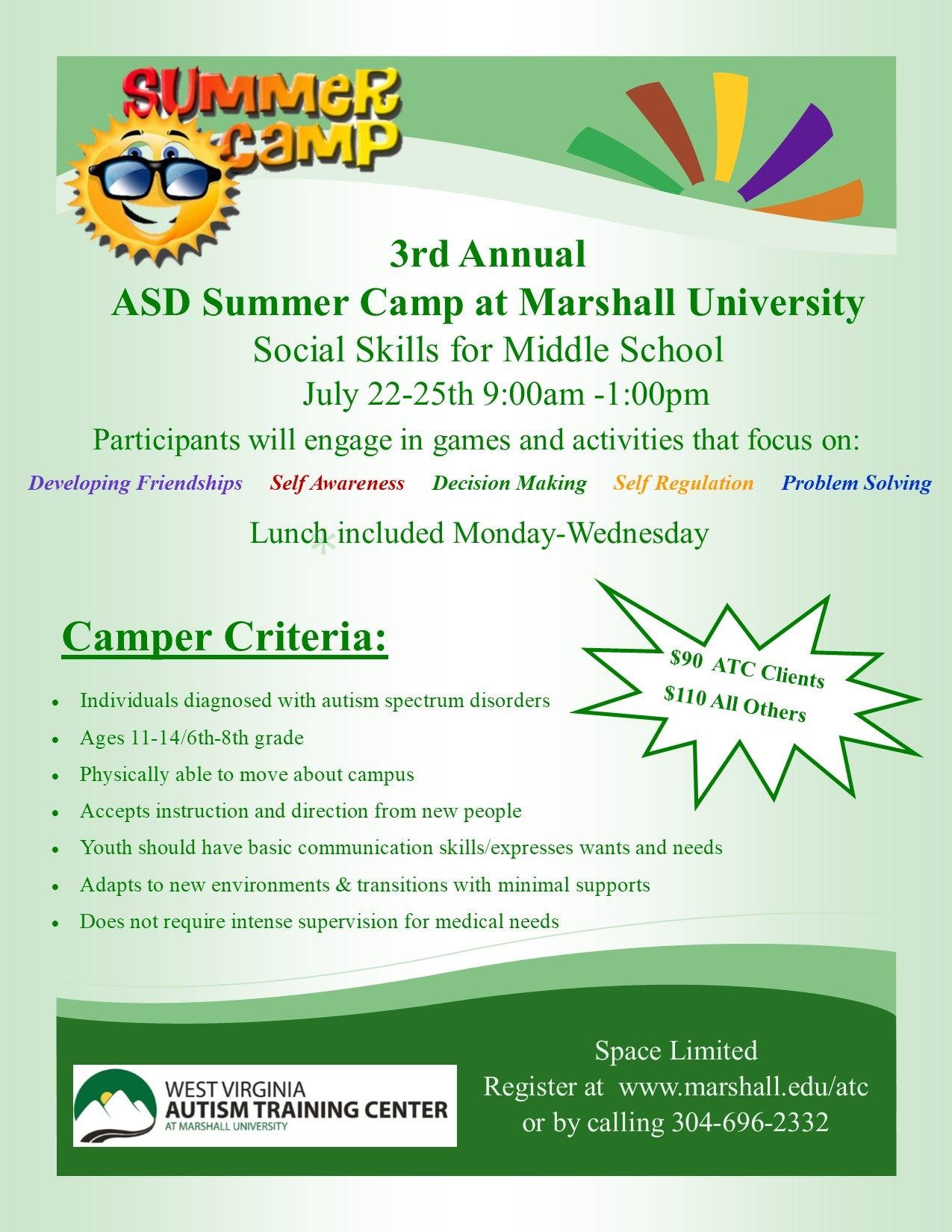 2019 ASD Marshall Summer Camp – Autism Training Center