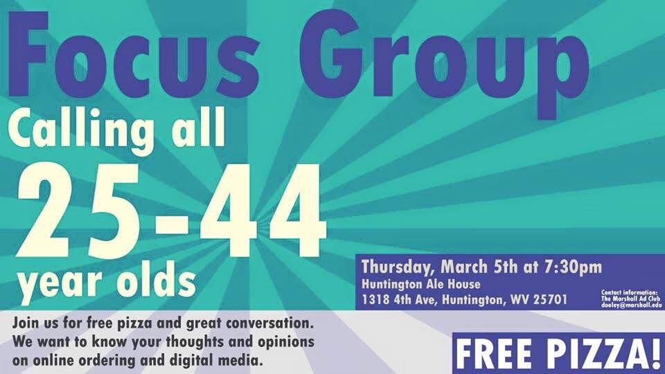 Ad Club Focus Group @ Huntington Ale House | Huntington | West Virginia | United States