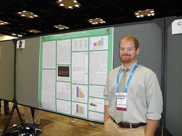 Chris presenting his research with Scott Day at the American Chemical Society National Meeting in Indianapolis.