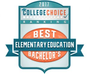 2017 College Choice Elementary Education Best Bachelor's