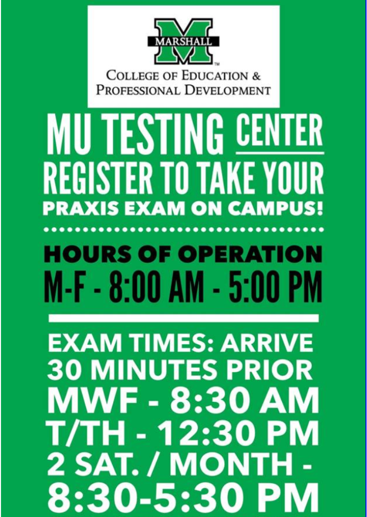 Testing Center Hours