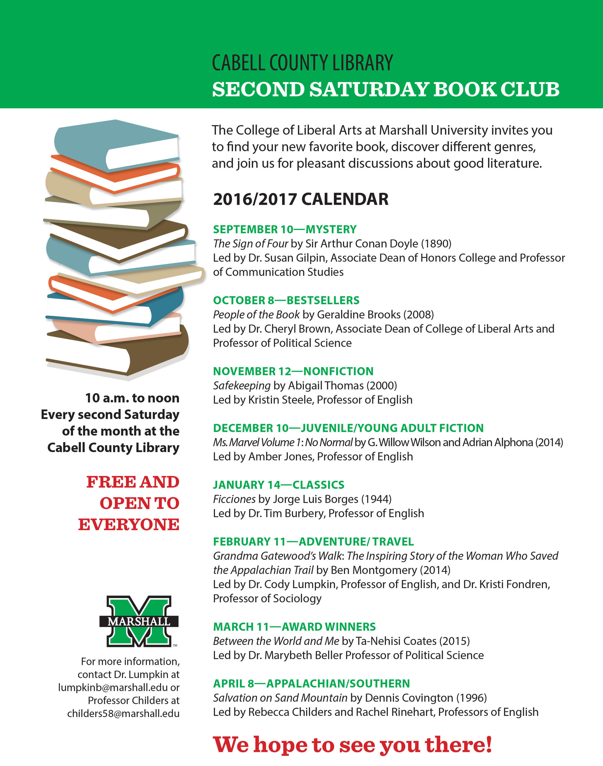 Join our Cabell County Book Club!