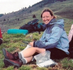 Kristi Fondren in the field on the Appalachian Trail