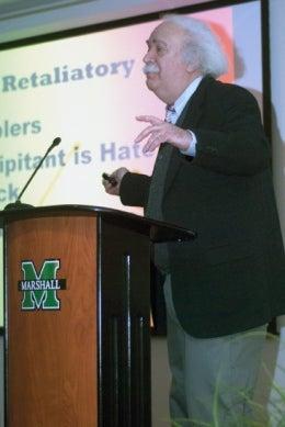 Jack Levin speaks at Marshall University in Sociology & Anthropology Speakers Series
