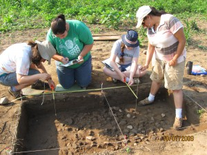 Marshall University Archaeological Fieldschool at the Greenbottom Survey site