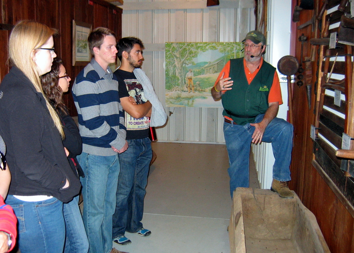 Members of the ANT Club (and guests) tour the Heritage Farm and Museum