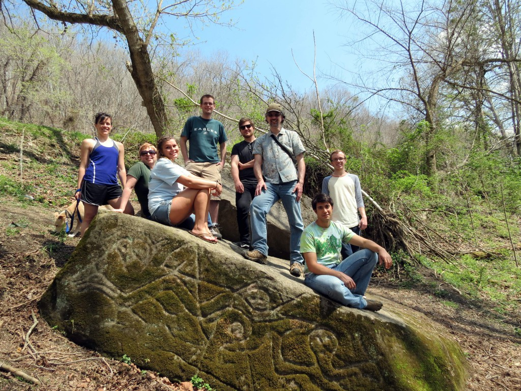 Anthropology field trip to the Salt Rock Petroglyphs.