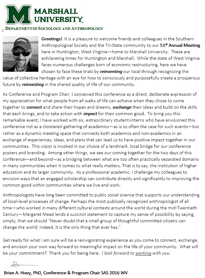 SAS2016WV_Hoey_Welcome Letter