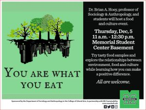 You Are What You Eat event poster