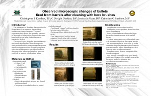 Observed Microscopic Changes of Bullets Fired from Barrels after Cleaning with Bore Brushes