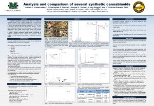 Analysis and characterization of several varieties of synthetic cannabinoids