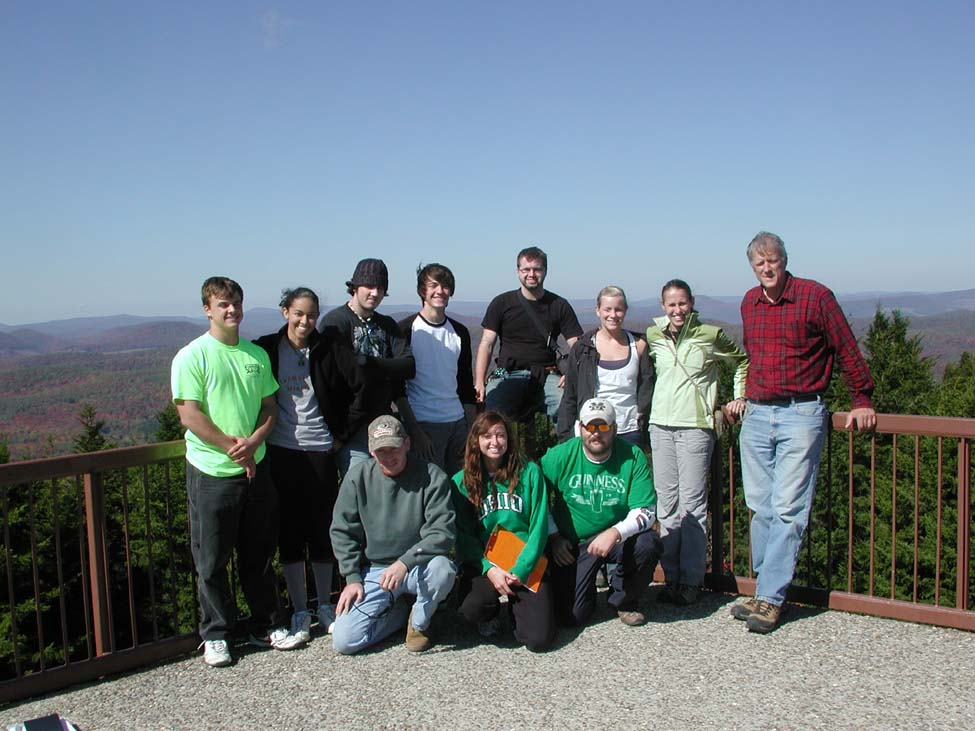 Observation tower Spruce Knob, Highest point in WV, elev. 4863 feet.
