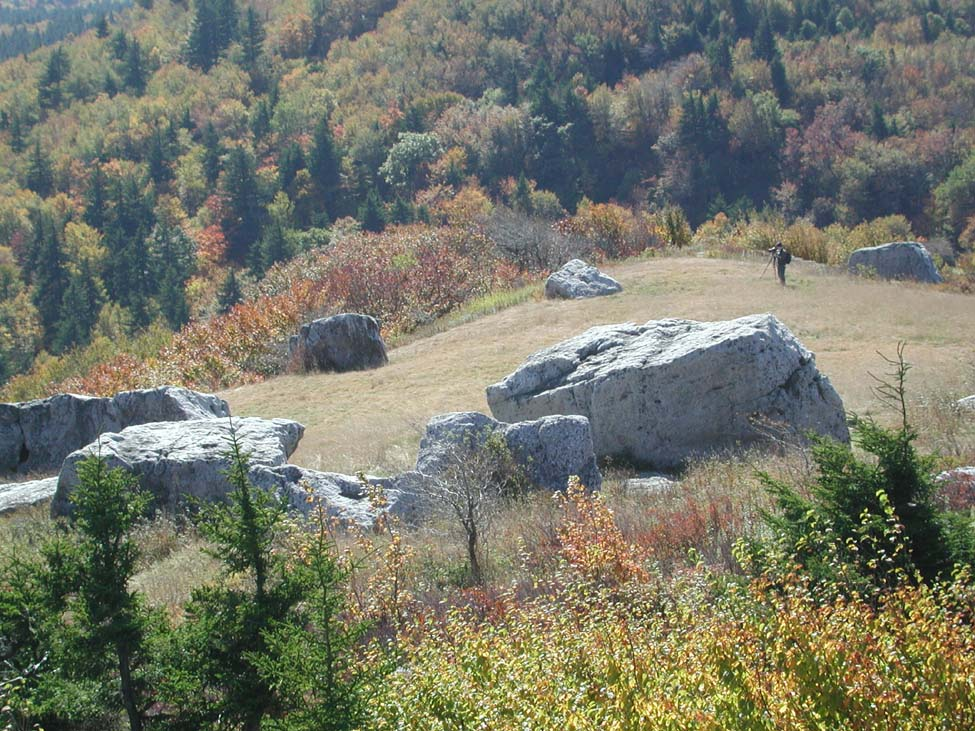 Spruce Knob is capped by resistant Pennsylvanian age sandstone