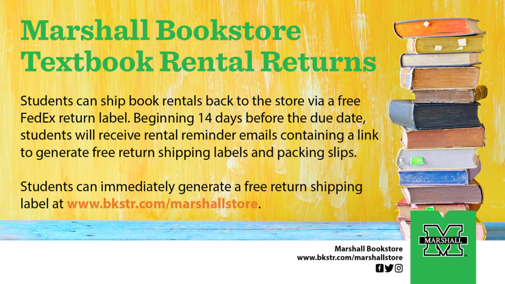 Rental Textbook Returns Graphic