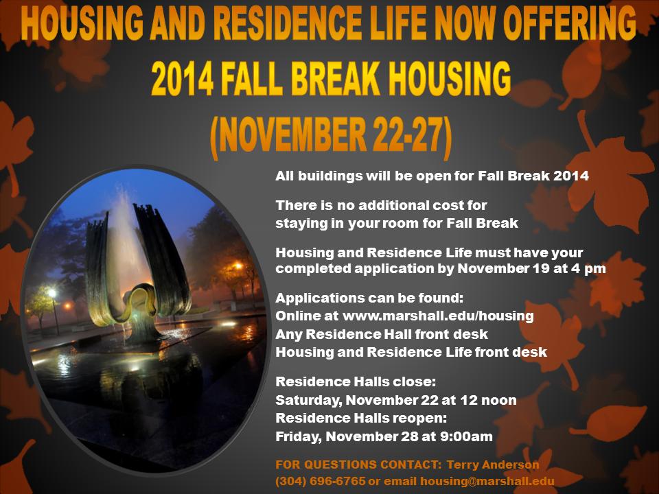 Fall Break 2014-15 2