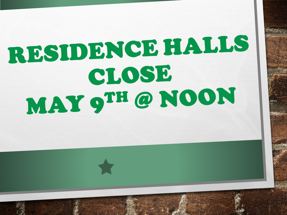 Residence Halls Close