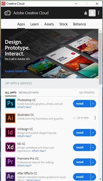 Adobe Creative Cloud Installation – Information Technology