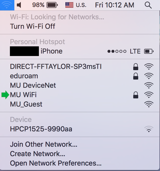 Connect a Laptop to WiFi (macOS) – Information Technology