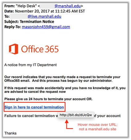 Protecting Your Marshall MUNet/Email Account from Phishing