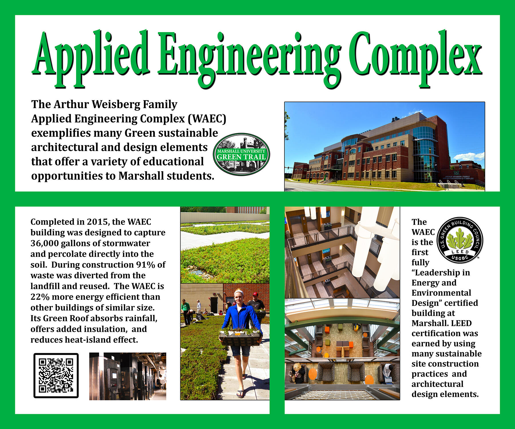 Applied engineering complex leed green marshall university mathematics computational science computer modeling digital imaging transportation research corporation and the marshall university research xflitez Choice Image