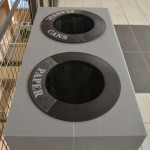 Recycling bins placed in convenient locations on each floor make recycling easy for students, faculty and staff.