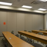 Classrooms in the Arthur Weisberg Family Applied Engineering Complex have light sensors that turn off or on when there is movement in the room, and dim or brighten based on the amount of light coming in through the windows.