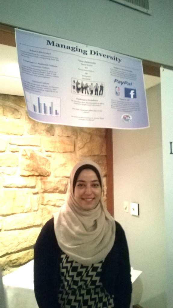 Malak Khader presents research on managing diversity