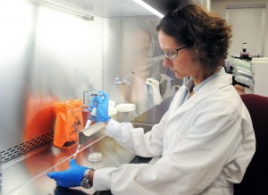 Photo of Dr. Joan Wilson in the lab