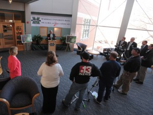Photo of Internet2 media event at Marshall University