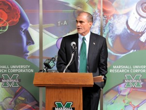 Dr. John Maher, Marshall vice president for research, discusses the significance of the award at today's announcement.