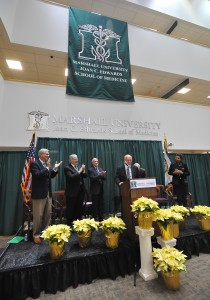 Photo from dedication of McKown Translational Genomic Research Institute at Marshall University