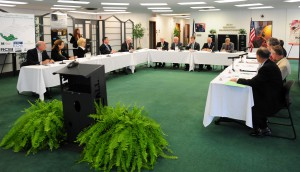 Roundtable participants discuss how to spur job growth in regional economies
