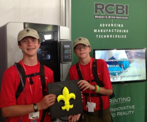 Photo of Scouts at RCBI exhibit