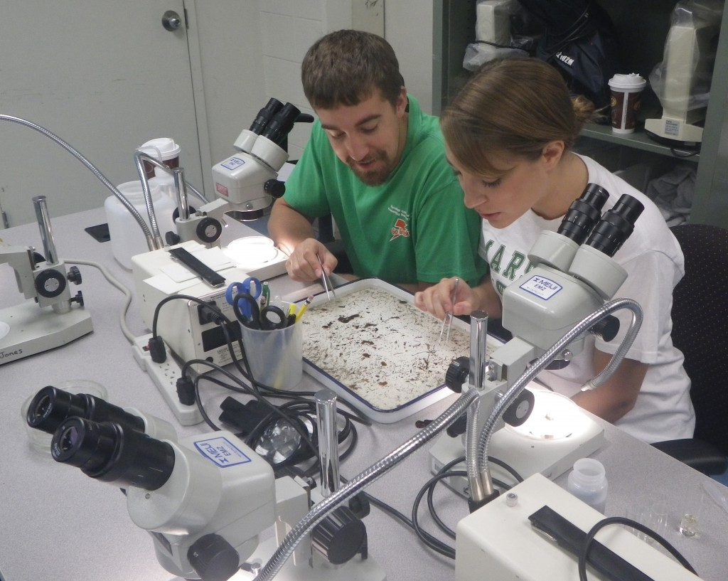 Photo of students in water research lab at Marshall University