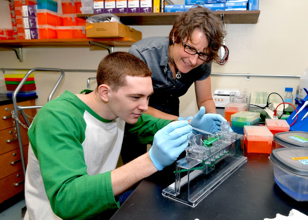 Marshall University's Dr. Nadja Spitzer with student