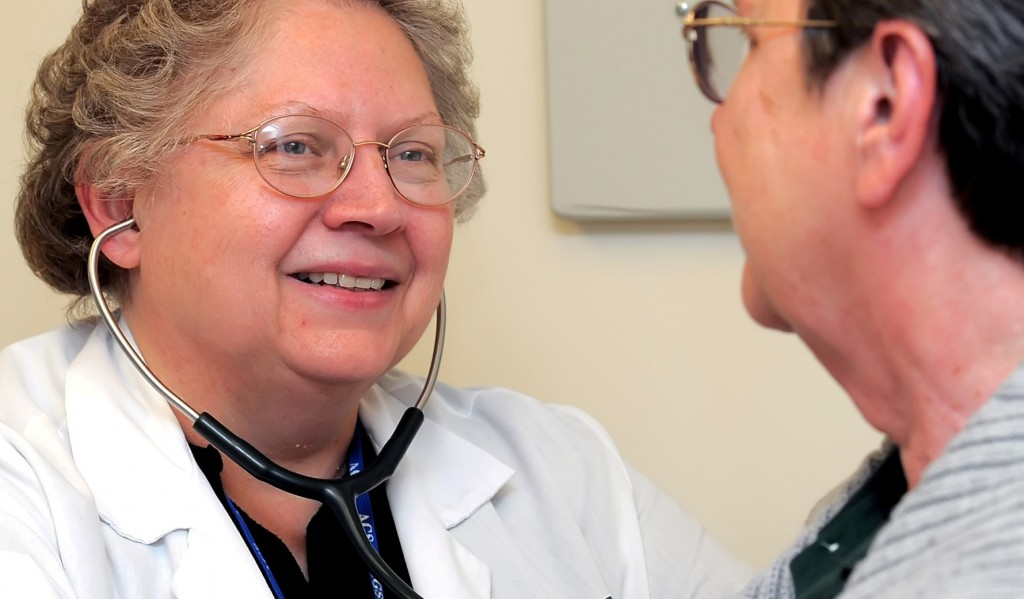 Photo of Dr. Shirley Neitch with patient