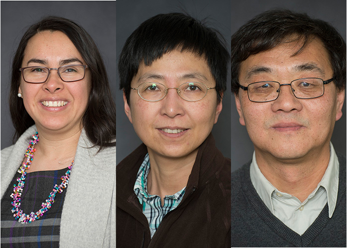 Photo of three new MIIR researchers