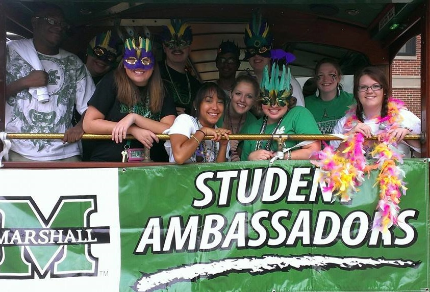Ambassadors help with the annual homecoming parade