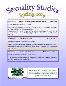 Sexuality Studies Courses Spring 14