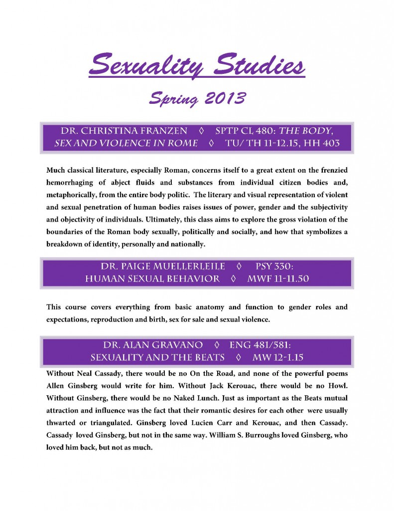 Sexuality-Studies-Courses-Spring-131
