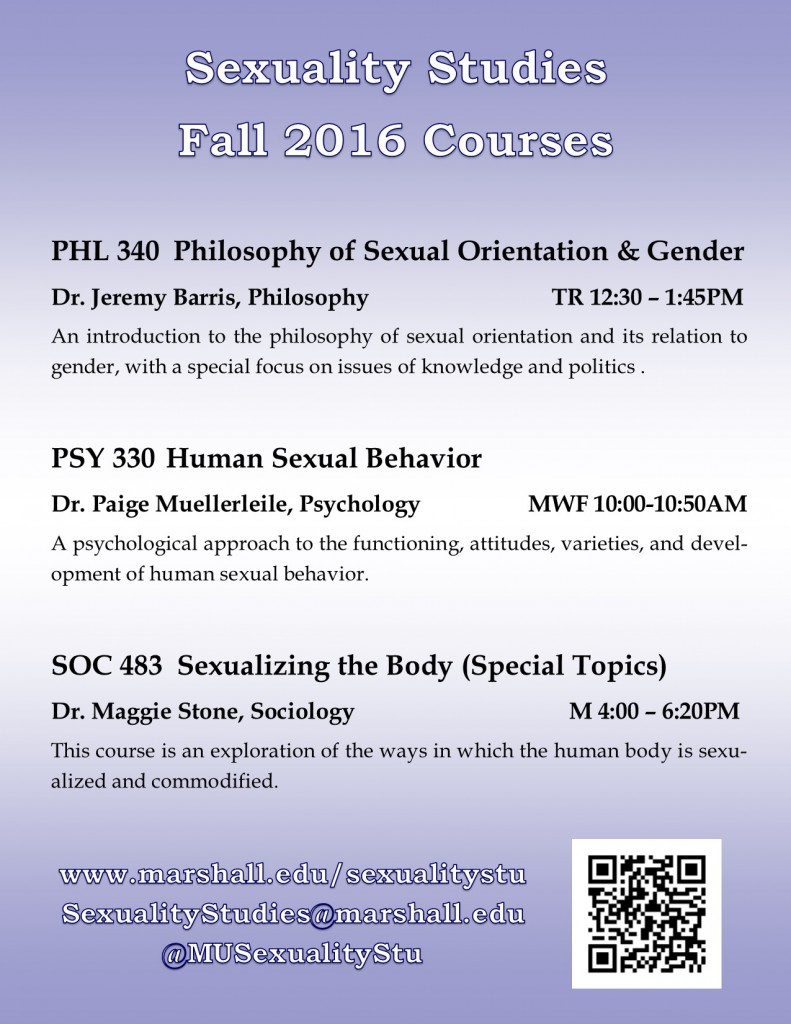 2016 Fall Courses Flyer