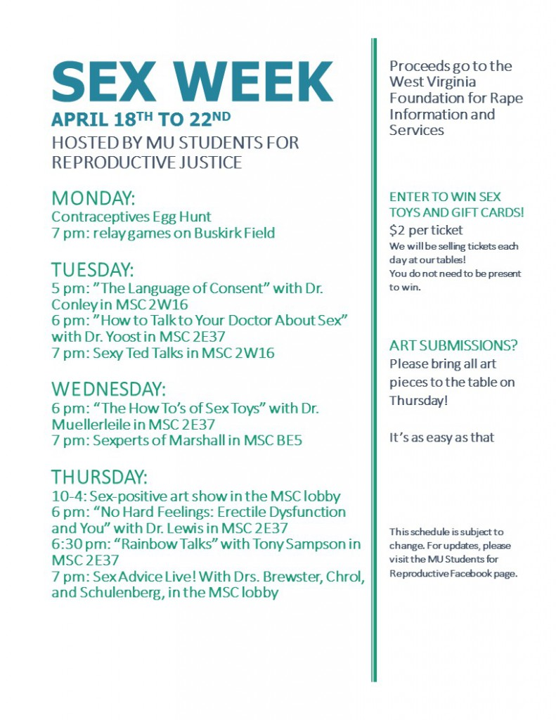 Sex Week flyer
