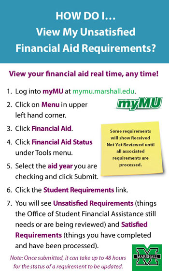 How Do I View My Unsatisfied Financial Aid Requirements