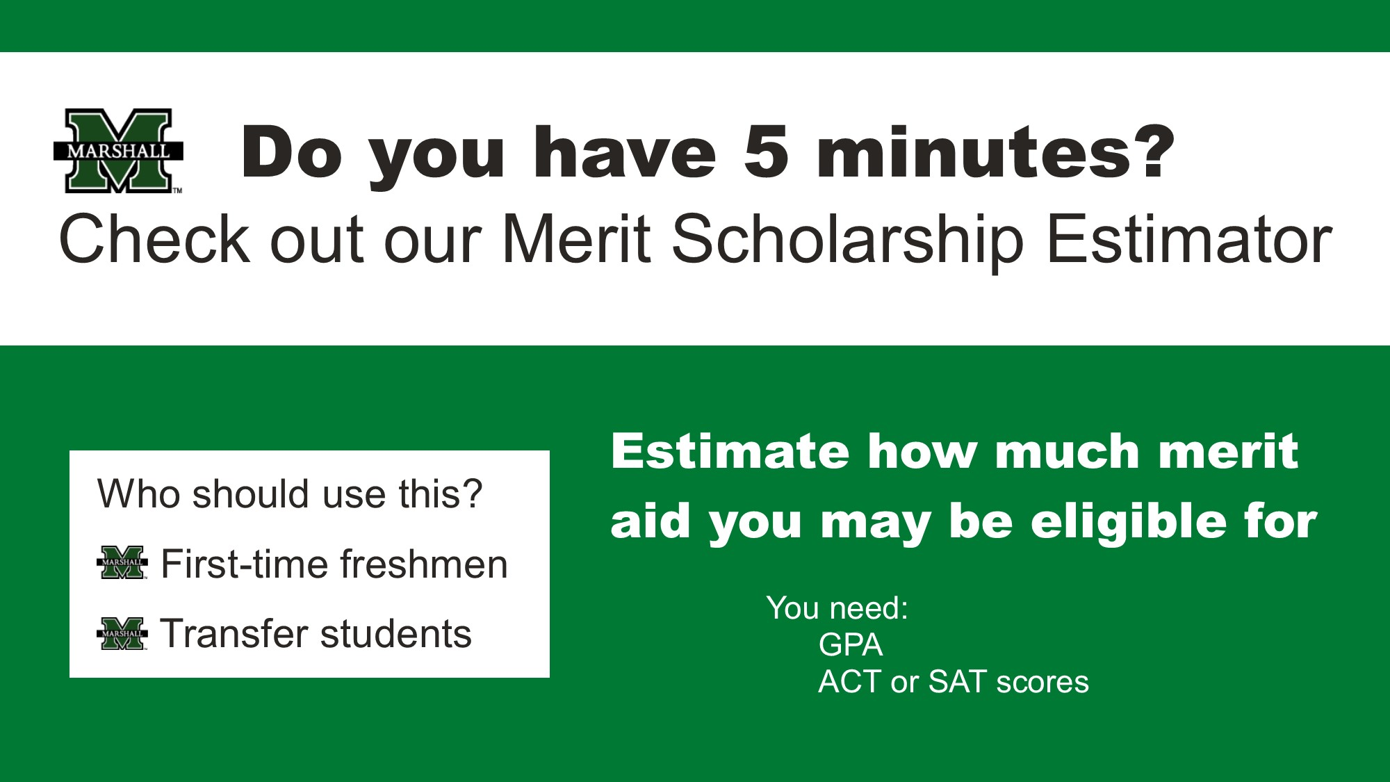 Merit Scholarship Estimator