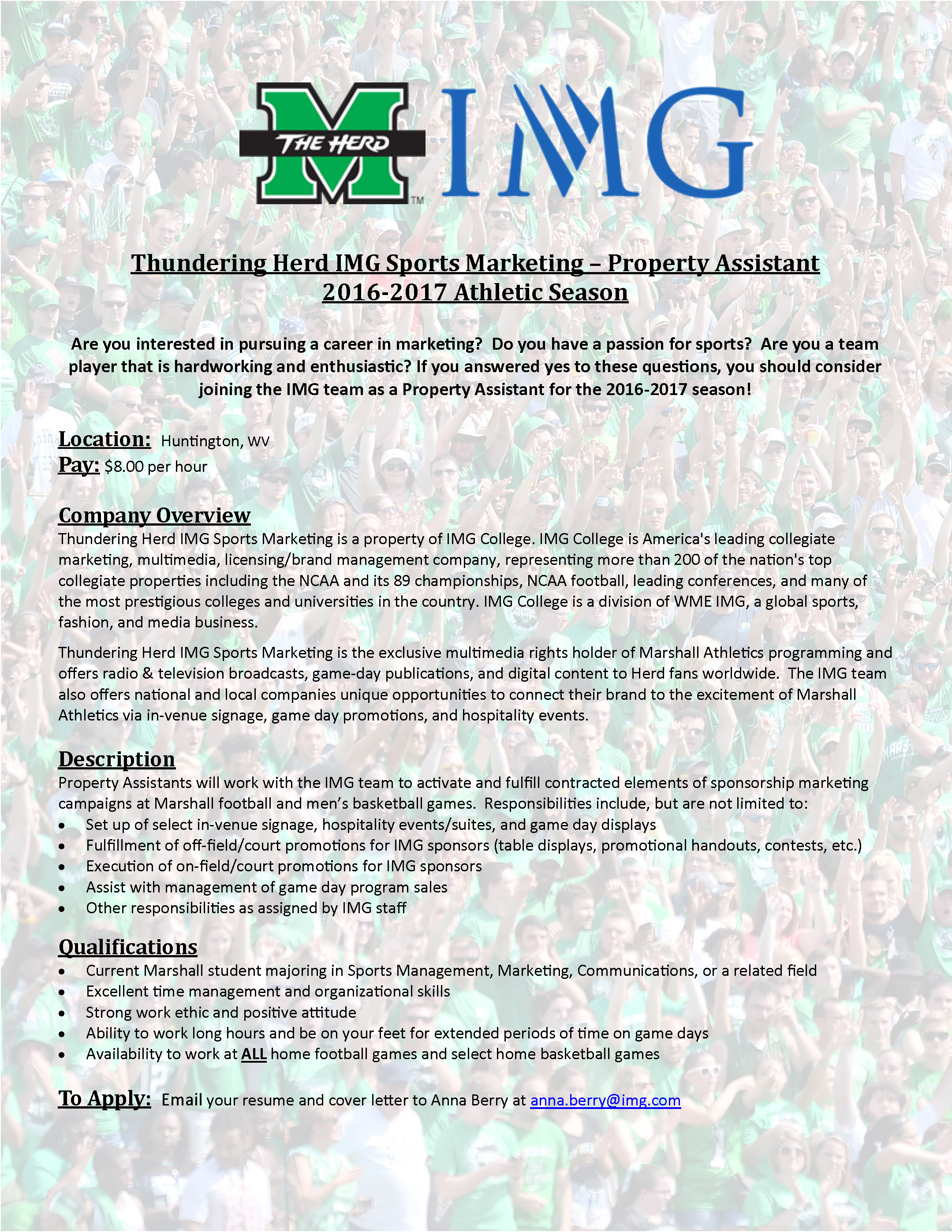 img sports flyer - Are You A Tram Player Ability To Work In A Team