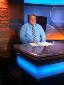 Kyle in the WSAZ newsroom
