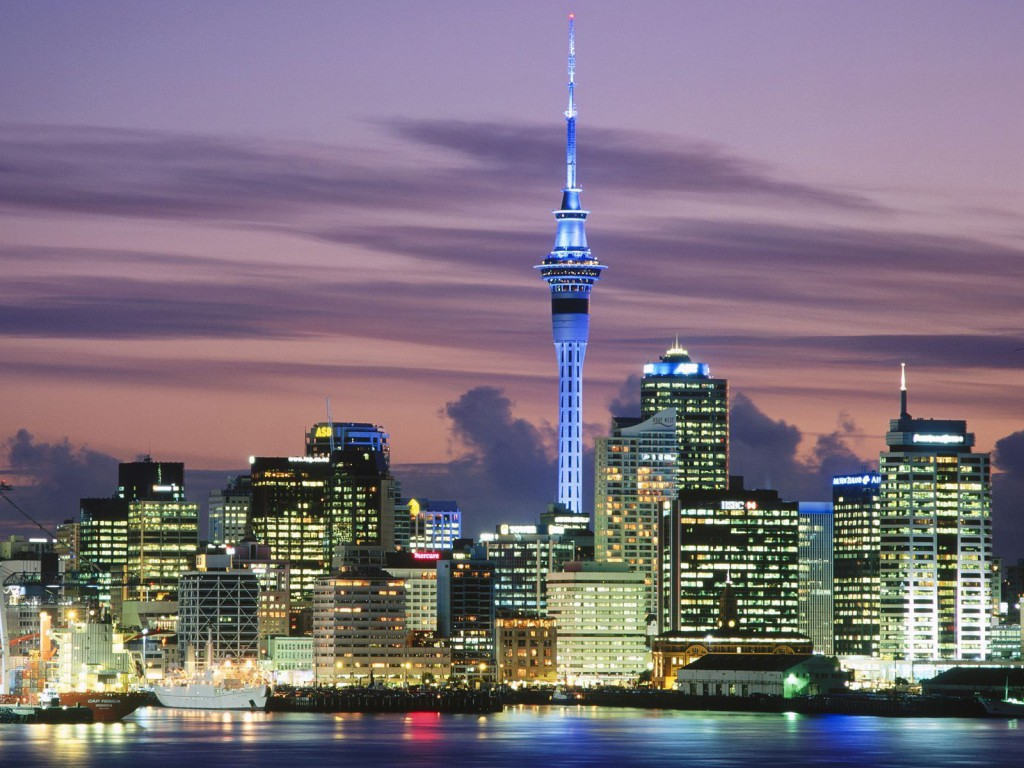 Evening Falls in Auckland, New Zealand