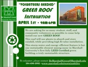 Green Roof Installation - Volunteers Needed
