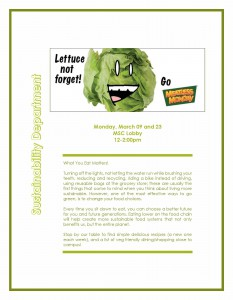 MEATLESS MONDAY- March flyer